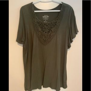 Super soft army green blouse